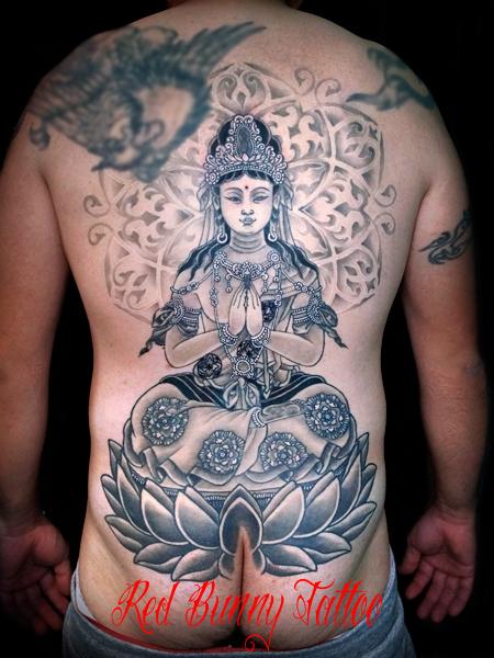 勢至菩薩 刺青 和彫り タトゥーデザイン 観音 菩薩 如来