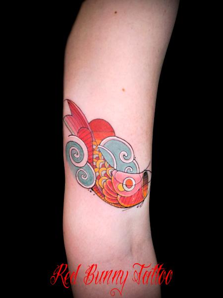 鯉のぼりの刺青・タトゥーデザイン japanese small tattoo