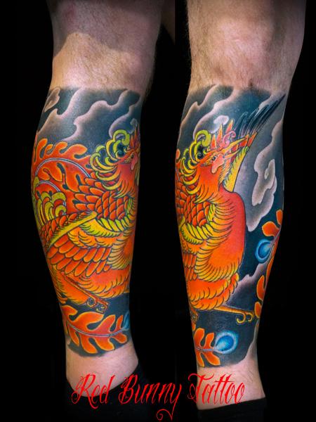 鳳凰 鳥 刺青 タトゥーデザイン phoenix tattoo
