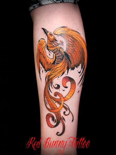 フェニックス 不死鳥 タトゥーデザイン phoenix tattoo