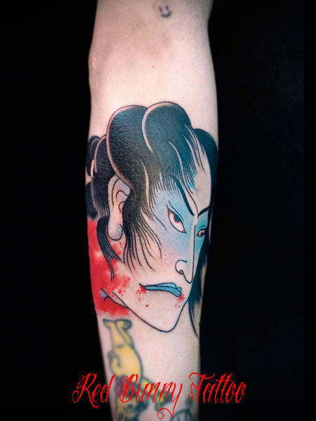 生首 侍 刺青 タトゥーデザイン samurai tattoo