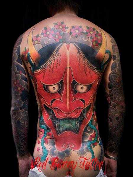 般若の刺青・和彫りのデザイン 背中一面