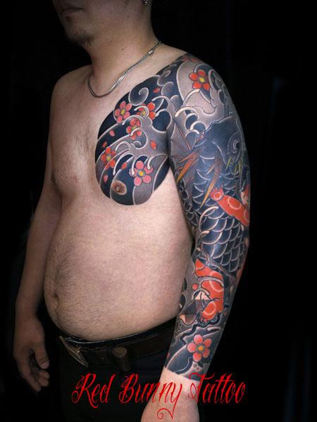 金太郎の抱き鯉・鯉退治の刺青・和彫り 怪童丸 japanese tattoo