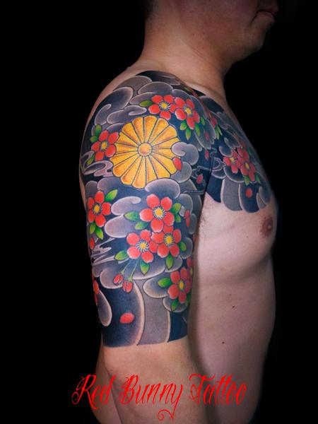 桜散らし 菊の御紋 刺青 和彫り 東京