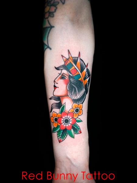 自由の女神 タトゥーデザイン アメリカントラディショナル Statue-of-Liberty-tattoo