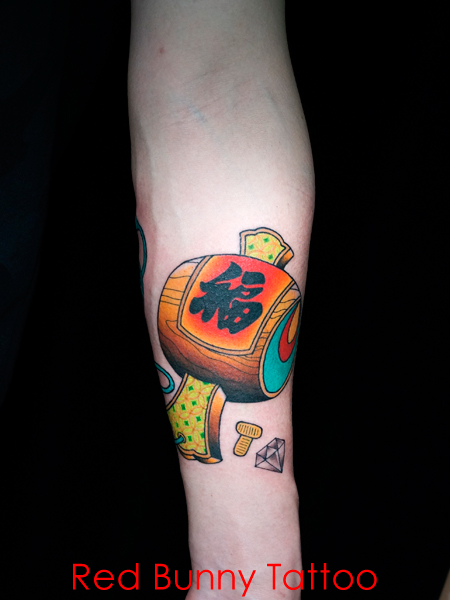 打ち出の小槌 刺青・タトゥーデザイン 縁起物