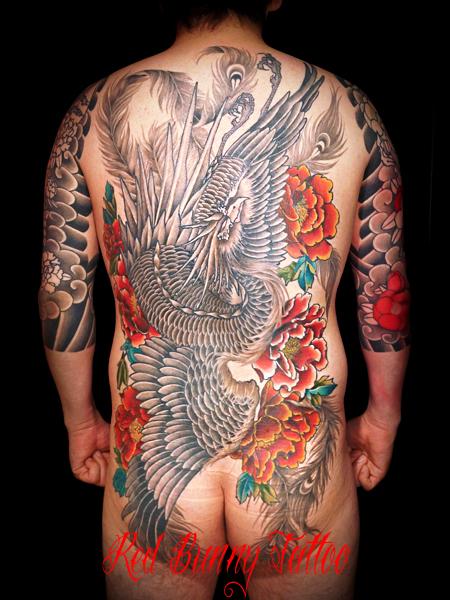 鳳凰 牡丹 刺青 タトゥー 和彫り デザイン 画像