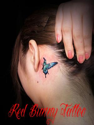 蝶 タトゥー girl tattoo ワンポイント