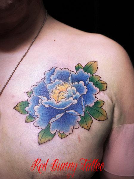 牡丹 花の刺青・タトゥーデザイン